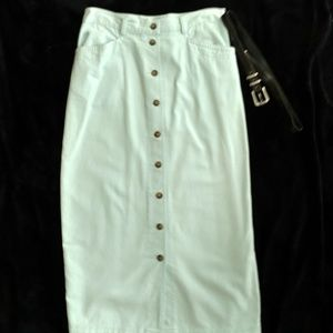 Mint Green Jean Skirt -Christopher & Banks